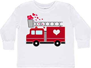 inktastic - Valentine's Day Red Firetruck with Toddler Long Sleeve T-Shirt 2873d