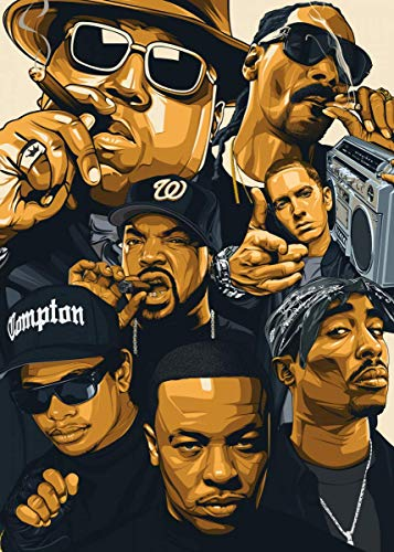 West Coast Rappers Poster Print Artwork Decor Gift
