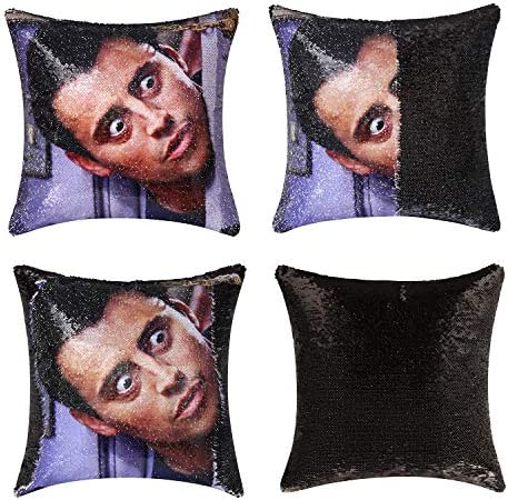 Jasen Friends Joey Tribbiani Sequin Pillow Cover Magic Two Color Changing Pillowcase Mermaid product image