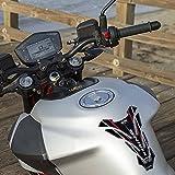Almohadilla de depósito Adhesiva 3D para protección de depósito de Motocicleta Compatible con Aprilia Shiver