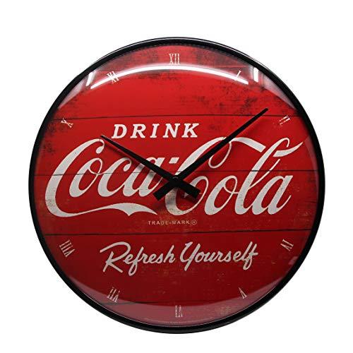 Nostalgic-Art Wanduhr, Coca-Cola - Logo Red Refresh Yourself