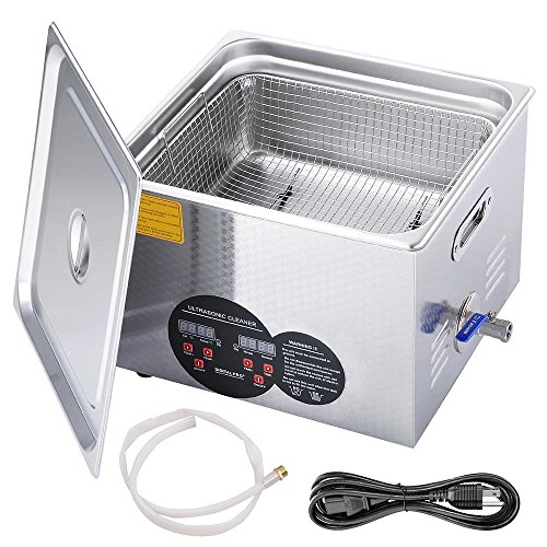 AW Pro Stainless Steel 15 L Liters 760W Ultrasonic Cleaner w/Digital Heater Timer 6 Sets Transducers