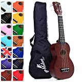 Best Brown Soprano Ukulele with Bag, plus 150+ downloadable pages of Uke Songs, Chords, String Stretching Video etc.