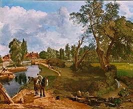 kunst für alle Art Print/Poster: John Constable Scene on a navigable River Flatford Mill Picture, Fine Art Poster, 35.4x29.5 inch / 90x75 cm