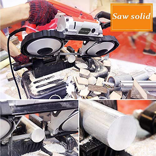Anbull Portable Band Saw with Removable Alloy Steel Base, 10A 1100W Motor, 5-inch Deep Cut, with .025-by-44-7/8-Inch 14 TPI Saw Blade and Led Spotlight