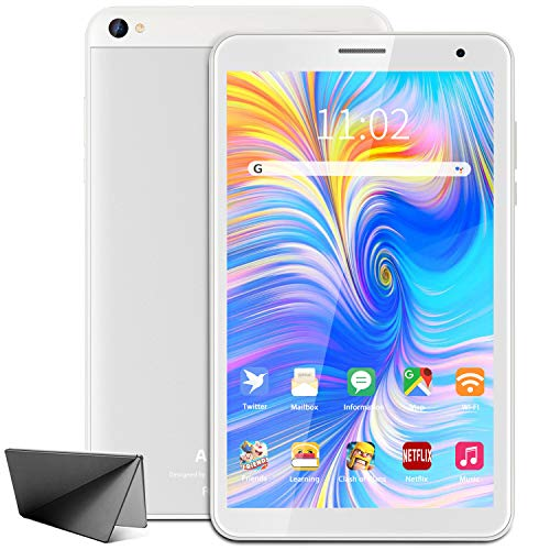 Tablet 8 Pulgadas WiFi AOYODKG,Android 10.0 Tableta,3GB RAM 32GB ROM,Quad-Core,Full HD Display,Bluetooth-Plata