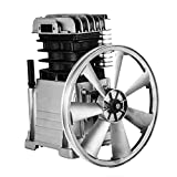 Happybuy Air Compressor Pump 3HP 11.8CFM Air Compressor Head Pump 115PSI Single Stage Twin Cylinder Aluminum Air Compressor Head Piston Style Splash Lubrication Pump (Single Stage)