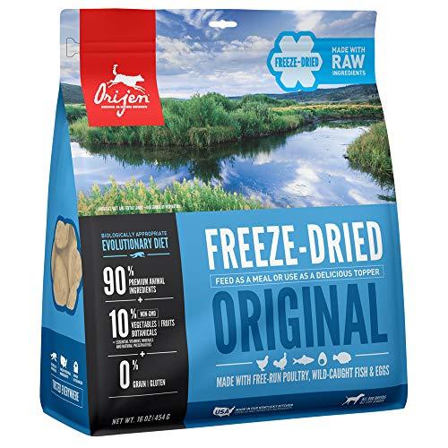 ORIJEN Gefriergetrocknetes Hundefutter & Topper, getreidefrei, proteinreiches Premium-Fleisch, Originalrezept, 473 ml