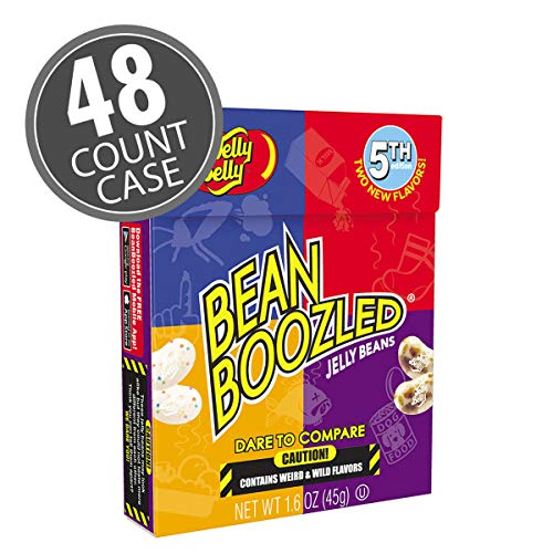 Jelly Belly BeanBoozled Jelly Beans 1.6 oz box (5th Edition) 48-Count Case -Official, Straight from the Source