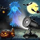 Projecteur Halloween Lampe LED avec Fluttering Fantôme Femme pour Halloween Anniversaire Thème Fête Maison Jardin...