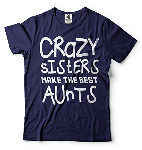Silk Road Tees La tía Nueva Camiseta de Las Mujeres del bebé Announcet Regalo para la Hermana Loca Hermana Nuevo tío Camiseta
