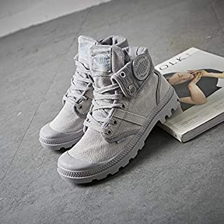 [MonShop] 女性のためのファッションスニーカー新しいファッションスニーカーの靴2019ファッションハイトップスニーカーキャンバスシューズ女性カジュアルシューズホワイトフラット女性バスケットレースアップソリッドトレーナー高品質