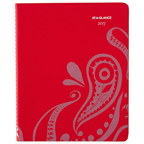 """AT-A-GLANCE Weekly / Monthly Appointment Book / Planner 2017, 8-1/2 x 11"""", Premium, Paisley (952P-905)"""