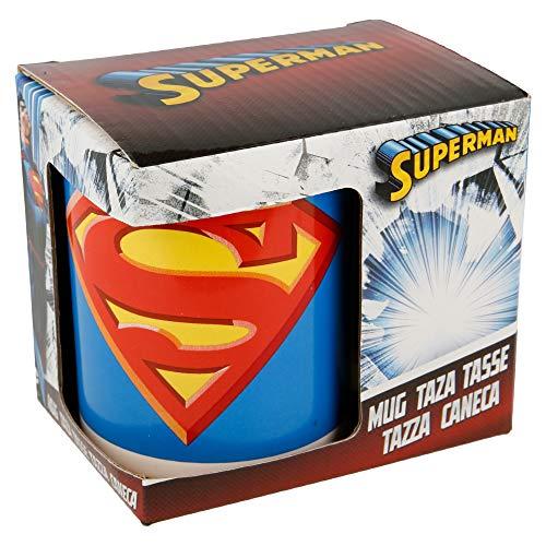 Boyz Toys ST456Tasse in Geschenk Box-Superman, Keramik, weiß, 7,5x 8,7x 10cm