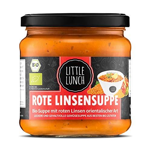 Little Lunch Bio Suppe Rote Linse | 350ml | 100% Bio-Qualität | Vegan | Laktosefrei | Ohne zugesetzten Zucker | Keine künstlichen Zusätze | Ohne Geschmacksverstärker