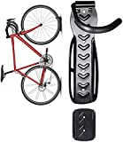 Dirza Bike Wall Mount Rack with Tire Tray - Vertical Bike Storage Rack for Indoor,Garage,Shed - Easy to install - Great for Hanging Road ,Mountain or Hybrid Bikes - Screws Included - 1 Pack