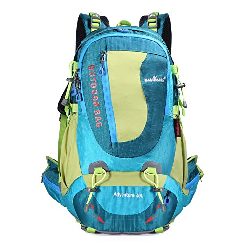 KL928 Hiking Backpack 40L Waterproof Outdoor Internal Frame Backpacks for Men and Women Travel Camping Climbing (DV2003-Blue)