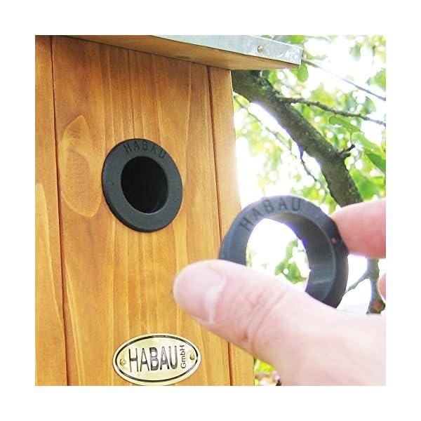 HABAU 2975 Nest Box with Zinc-Plated Tin Roof