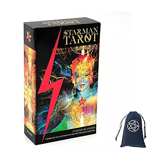 Tarjetas De Tarot Starman con Bolsa De Terciopelo,Starman Tarot Cards
