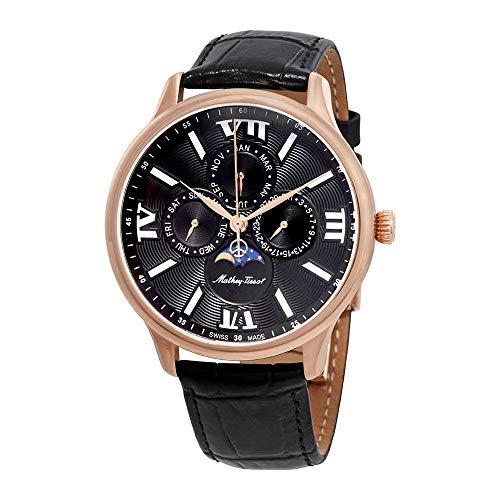 Mathey-Tissot Edmond Moon Phase Black Dial Men's Watch H1886RPN
