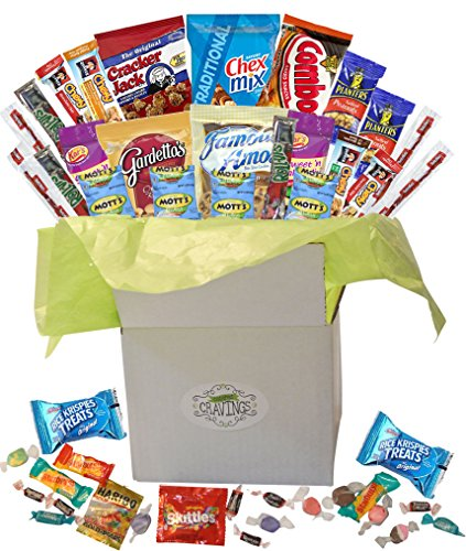 Beitipo Catered Cravings Snack Gift Basket Party Mix 26 count.