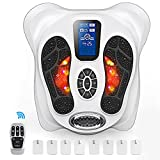 Creliver Foot Circulation Plus EMS & TENS Foot Nerve Muscle Massager - Electric Foot Stimulator Improves Circulation, Feet Legs Circulation Machine Relieves Body Pains, Neuropathy & Plantar Fasciitis