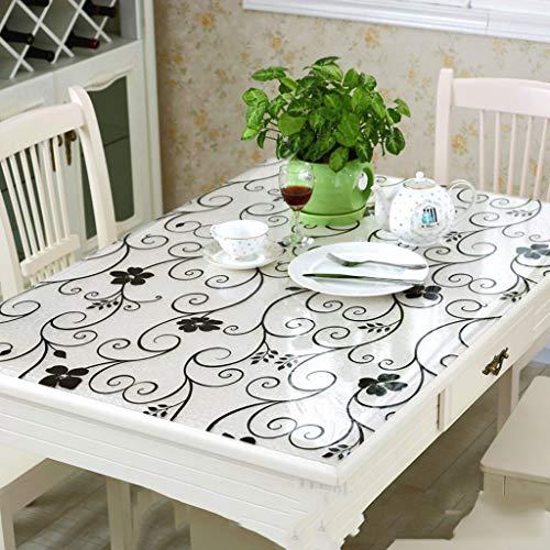 HUIHFB Tafelmat, voor buiten, outdoor, afdekking, tafelkleed, beschermer, antislip, waterdicht, voor bureau, vinyl, rechthoekige kunststof PVC
