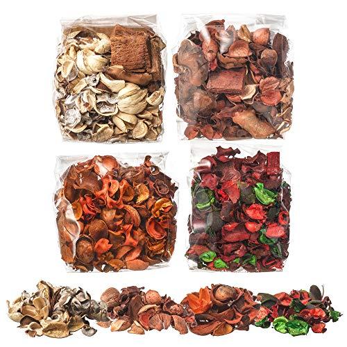 Ikea DOFTA Set of 4 Bags of Potpourri 1 of Each Vanilla, Vanilla & Nutmeg, Red Garden Berries, Peach & Orange