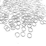 JZK Set 1000 PCS 6mm anelli aperti argento per bigiotteria fai da te, anellini aperti per orecchini fai da te kit per creazione di gioielli di Braccialetti collane Portachiavi