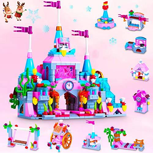 COOLJOY Classici 633012 Set di Costruzioni, 567 Pezzi Castello Giocattolo da Costruzione Castle Combina Princess e Prince STEM Kit di Costruzione Giocattoli Regali per di 6 7 8 9 Anni