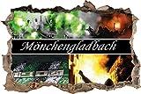 Ultras Mönchengladbach, 3D Wandsticker Format: 62x42cm,