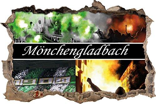 Ultras Mönchengladbach, 3D Wandsticker Format: 62x42cm, Wanddekoration