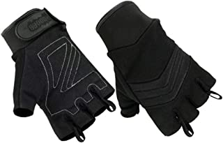Hugger Women's Air Cooled No Sweat Knit Extreme Comfort Fingerless Riding Gloves