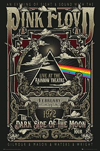 Pink Floyd Poster Live at the Rainbow Theatre, London (61cm x 91,5cm)