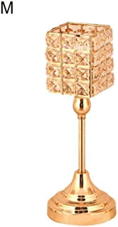 QYLLXSYY Candle Holders Gold Plated Crystal Candlestick Candle Lantern Candelabra Home Decoration Wedding Party Candlestick (Color : M)