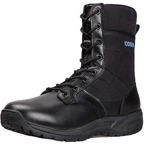 MH mannen militaire laarzen, mannelijke tactische laarzen Oxford doek laarzen waterdicht antislip voor wandelen wandelen outdoor Urban