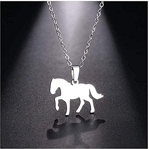 huangxuanchen co.,ltd Necklace Necklace Necklace Stainless Steel Horse Women Pendant Geometric Engagement Jewelry Gift Charm All-Match Gift Personality Simple Gift