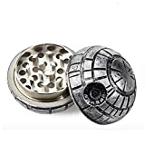 Death Star Herb Spice Grinder Aluminum 3 pc 40mm (1.5) (1) by Death Star