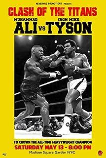 ALI vs TYSON POSTER Muhammad Ali and Mike Tyson Fight RARE HOT NEW 24x36