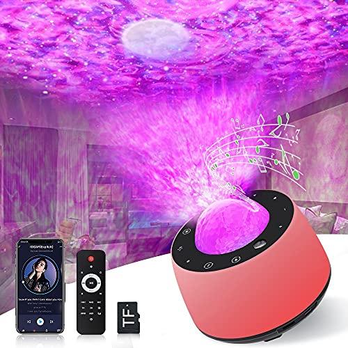 Grarg Proyector Estrella, LED Lámpara Luz Nocturna Estelar con Temporizador, 360° Rotación Control Remoto Proyector Estrellas Bluetooth Altavoz Música para Adultos, Niños, Bebé, Decoración, Regalos
