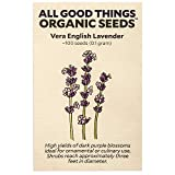 Vera English Lavender Seeds (~100): Certified Organic, Non-GMO, Heirloom, Open Pollinated Seeds from The United States