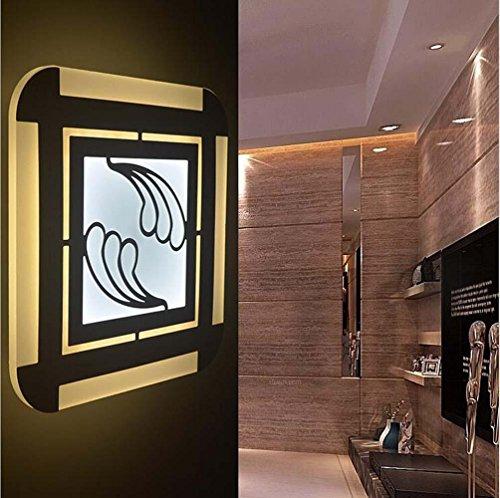 NIHE chambre moderne puce LED haute carré minimaliste allée mur acrylique