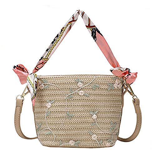 Bolso de hombro tejido de paja para mujer, bolso de hombro hecho a mano, bolso de playa de verano, para viajes, uso diario, bolsa de playa, bolso bohemio, bolso de vacaciones, regalo de boda