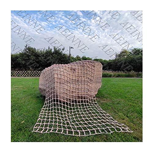 WWWANG Cargo Kletternetz, Klettern Cargo Net Seil Netting Spielplatz Rock Seilleiter Für Kinder Outdoor Play Safety Swing Sets Klettern Nylon Strukturen LKW Anhänger Netzen Riesiges Schwerlastmaschen,