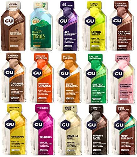 GU Energy Gel Testpaket 15 Sorten mit je 32 Gramm