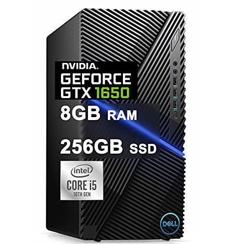 Dell Flagship G5 5090 Gaming Desktop Computer 10th Gen Intel 6-Core i5-10400F (Beats i7-7700) 8GB RAM 512GB SSD NVIDIA GeForce GTX 1650 Super 4GB USB-C WiFi5 Bluetooth Win10 Black