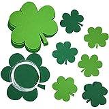 KUUQA 20 Pièces Saint Patrick Décorations de Pelouse Décoration d'arbre Suspendu, Vert Suspendu Fête des Trèfles Provisions