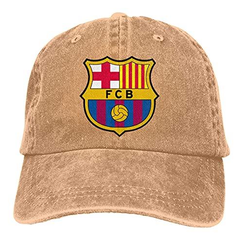 once FC Barcelona Cute Adjustable Hat for Men Women 100% Cotton Black Sombreros y Gorras