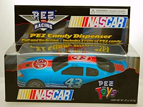 2005 - PEZ Toys - PEZ Candy Racing - NASCAR - Richard Petty  43 - STP Pontiac - Pull & Go Action - Includes 3 Rolls of PEZ - Limited Edition - Colelctible by Nascar
