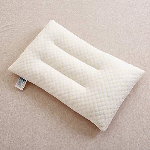 LEEEC Almohada de látex rellena de Almohada de látex Cómoda, Suave y Saludable para Adultos,S